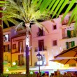 Ibiza island nightlife in Eivissa town — Stock Photo