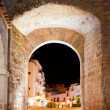 Ibiza castle fort door to Dalt Vila in Eivissa — Stock Photo