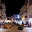 Ibiza dalt vila nightlife under night lights — Stock Photo