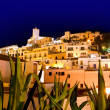 Royalty-Free Stock Photo: Ibiza Dalt Vila downtown in night lights