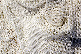 Fishing new white net texture closeup — Stock Photo
