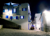 Ibiza island white houses in the night — Stock Photo