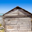 Royalty-Free Stock Photo: Gray wood cabin house  formentera beach