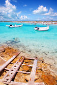 Illetes beach in Formentera island in summer — Stock Photo