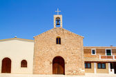 Sant Ferran church and belfry in Formentera — Stock Photo