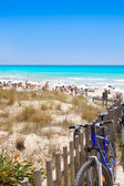 Formentera migjorn Els Arenals beach in summer — Stock Photo