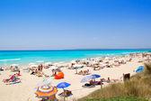 Formentera migjorn Els Arenals beach in summer — Fotografia Stock