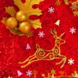 Christmas card background golden and red — ストック写真