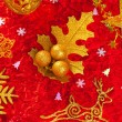 Christmas card background golden and red — Lizenzfreies Foto