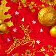 Royalty-Free Stock Photo: Christmas card background golden and red