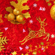 Christmas card background golden and red — Stock Photo #7496848