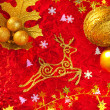 Christmas card background golden and red — Photo