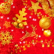 Christmas card background golden and red — Foto Stock