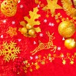 Christmas card background golden and red — Stock fotografie