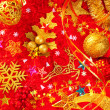 Christmas card background golden and red - Stockfoto