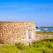 Stock Photo: Masonry hut in formenterEstany des Peix