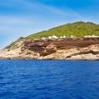 Ibiza Sa Talaia coast in Balearic islands - Stock Photo
