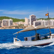 Ibiza boats in San Antonio de Portmany bay - Stock Photo