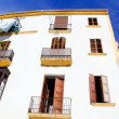 Ibiza town white facades of mediterranean — Stock Photo