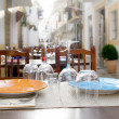 Royalty-Free Stock Photo: Ibiza island downtown restaurant table