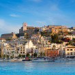 Ibiza Eivissa town with blue Mediterranean — Stock Photo #7576096