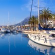 Denia marina port boats and Mongo — Stock Photo #7578500