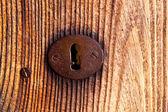 Ibiza traditionelle rostigen Eisen Schlüssel Loch — Stockfoto