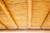Cane sunroof with round wood beams — Stock Photo