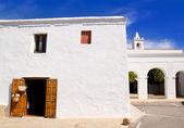 Ibiza San Miguel de Balansat white church — Stock Photo
