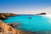 Ibiza cala Conta Conmte in San Antonio — Stock Photo