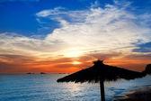 Ibiza sunset in cala Conta Conmte — Stock Photo