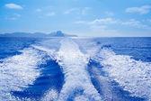 Barco de es vedra e vedranell ilhas wake — Foto Stock