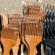 Brown black comb for long hair - Stok fotoğraf