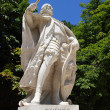 D Sancho 4 statue in Madrid at Retiro park - Stock Photo