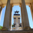 Stock Photo: Alfonso XII monument Madrid in Retiro park