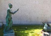 Madrid fountain of woman in Paseo de la Castellana — Stock Photo