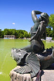 Madrid Sirena sobre Pez mermaid statue in Retiro — Stock Photo