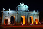 Alcala Puerta in Madrid with night lights — Stock Photo