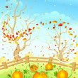 Royalty-Free Stock Vector Image: Autumn landscape.