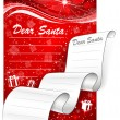 Letter to Santa. Christmas background — Stock Vector