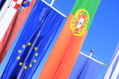 Flags of European countries — Stock Photo