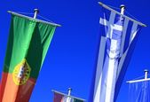 Flags of Portugal and Greece — Stock Photo