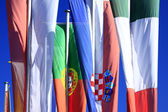 Flags of countries of the European Union — Stock Photo