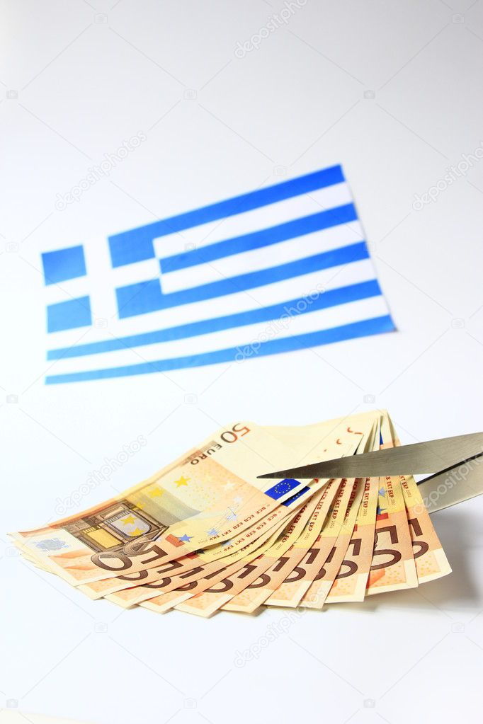 Symbol photo: depts cut for Greece — Stock Photo #7379846