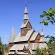 Nordic wood church — Stock Photo