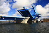 Stroke bridge Wolgast — Stock Photo