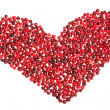 Heart of cranberry — Stock Photo
