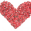 Stock Photo: Heart of cranberry
