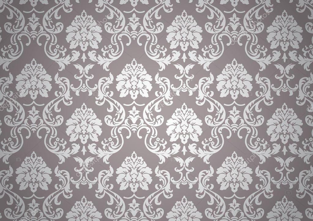 Fond d 39 cran baroque lumineux image vectorielle 6823718 - Papier peint gris baroque ...