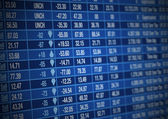 Stock Market board — Stock Photo